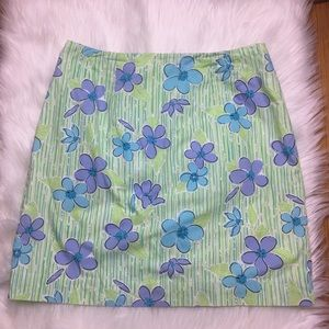 Lilly Pulitzer Skirts - Lilly Pulitzer BlueGreen Floral Print Skirt Size 8
